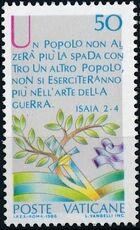 Vatican City 1986 International Peace Year a