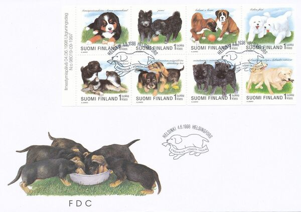 Finland 1998 Puppies FDCa