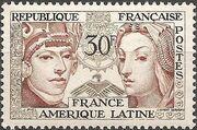 France 1956 Friendship Between France and Latin America a