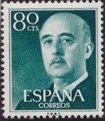 Spain 1955 General Franco j