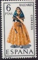 Spain 1967 Regional Costumes Issue g