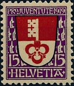 Switzerland 1919 PRO JUVENTUTE - Coat of Arms c