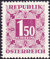 Austria 1953 Postage Due Stamps - Square frame with digit (4th Group) a.jpg