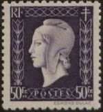 France 1945 Marianne de Dulac (2nd Issue) s