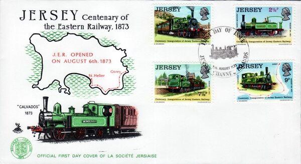 Jersey 1973 Centenary of Jersey Eastern Railway e