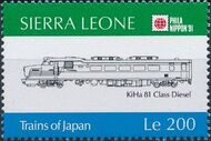 Sierra Leone 1991 Phila Nippon '91 - Japanese Trains g
