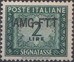 Trieste-Zone A 1949 Postage Due Stamps of Italy 1947-1954 Overprinted b