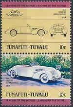 Tuvalu-Funafuti 1984 Leaders of the World - Auto 100 (1st Group) b