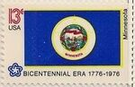 United States of America 1976 American Bicentennial - Flags of 50 States zf