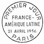 France 1956 Friendship Between France and Latin America PMa