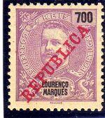 Lourenço Marques 1911 D. Carlos I Overprinted o