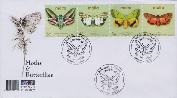 Malta 2002 Butterflies and Moths aa