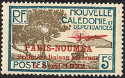 New Caledonia 1933 Definitives of 1928 Overprinted d