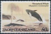 Norfolk Island 1982 Whales b