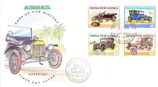Papua New Guinea 1994 Classic Cars FDCa