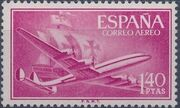 Spain 1955 Plane and Caravel (1st Group) c