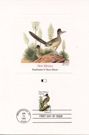 United States of America 1982 State birds and flowers FOLd4