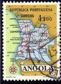 Angola 1955 Map of Angola f