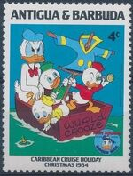 Antigua and Barbuda 1984 Disney - Christmas - 50th Anniversary of the Birth of Donald Duck d