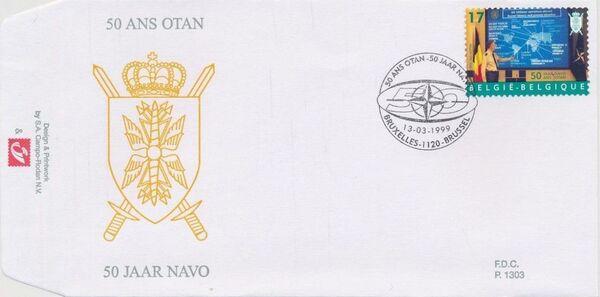 Belgium 1999 50th Anniversary of NATO FDCe