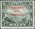 Malta 1928 Definitives of 1926-1927 Ovpt POSTAGE AND REVENUE a.jpg