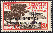 New Caledonia 1933 Definitives of 1928 Overprinted g