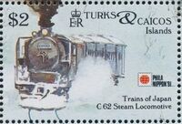 Turks and Caicos Islands 1991 Expo PhilaNippon - Locomotives i