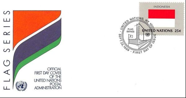 United Nations-New York 1989 Flag Series FDCa