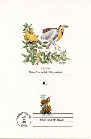 United States of America 1982 State birds and flowers FOLe1