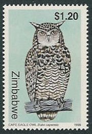 Zimbabwe 1999 Native Owls 3th Issue a