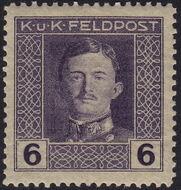 Austria 1917-1918 Emperor Karl I (Military Stamps) e