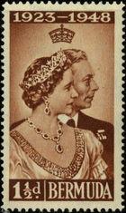 Bermuda 1948 Silver Wedding of King George VI & Queen Elizabeth a