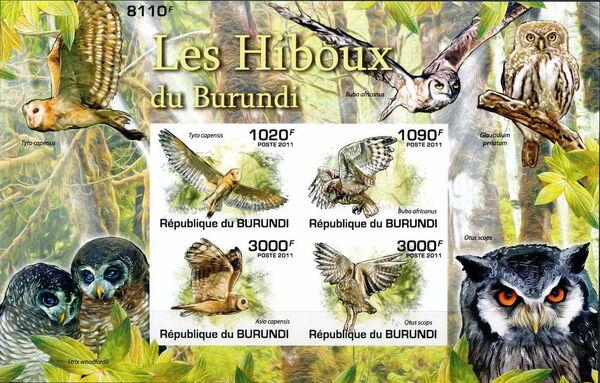 Burundi 2011 Owls of Burundi MSb