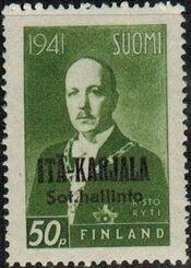 Eastern Karelia 1942 President Ryti Overprinted a