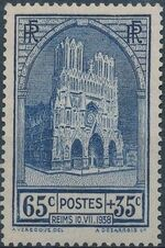 France 1938 Completion of the Reconstruction of Reims Cathedral a