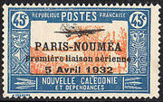 New Caledonia 1933 Definitives of 1928 Overprinted l