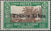 "New Caledonia 1941 Definitives of 1928 Overprinted in black ""France Libre"" u"
