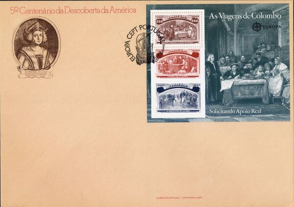 Portugal 1992 EUROPA - 5th Centenary of Discovery of America FDCb