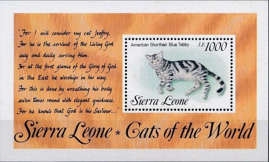 Sierra Leone 1993 Cats of the World c