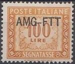 Trieste-Zone A 1952 Postage Due Stamps of Italy 1947-1954 Overprinted a