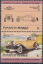 Tuvalu-Funafuti 1985 Leaders of the World - Auto 100 (2nd Group) a