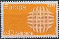 Andorra-French 1970 Europa a