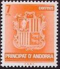 Andorra-Spanish 1982 Coat of Arms d