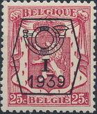 Belgium 1939 Coat of Arms - Precancel (1st Group) c