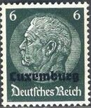 German Occupation-Luxembourg 1940 Stamps of Germany (1933-1936) Overprinted in Black d