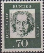 Germany, Federal Republic 1961 Famous Germans l
