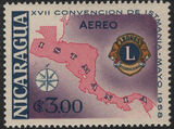 Nicaragua 1958 17th Convention of Lions International of Central America (Air Post Stamps) f