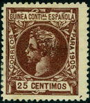 Spanish Guinea 1905 Alfonso XIII h