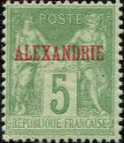 "Alexandria 1899 Type Sage Overprinted ""ALEXANDRIE"" e"