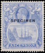 Ascension 1924 Seal of the Colony q